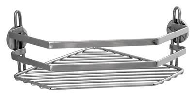 Hörnhylla med 1 plan  (trådhylla) med Limbrickor