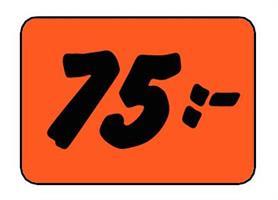 Etikett 75:- 30x20mm