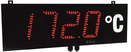 Large size display 100mm, RS232/RS485 ASCII protocol Aux 18-36VDC