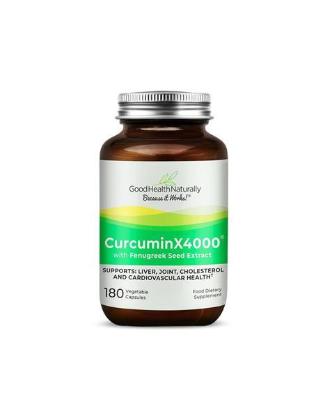 CurcuminX4000 with Fenugreek 180 Capsules