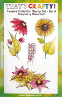 A5 Clear stamp set Flowers Collection set 4