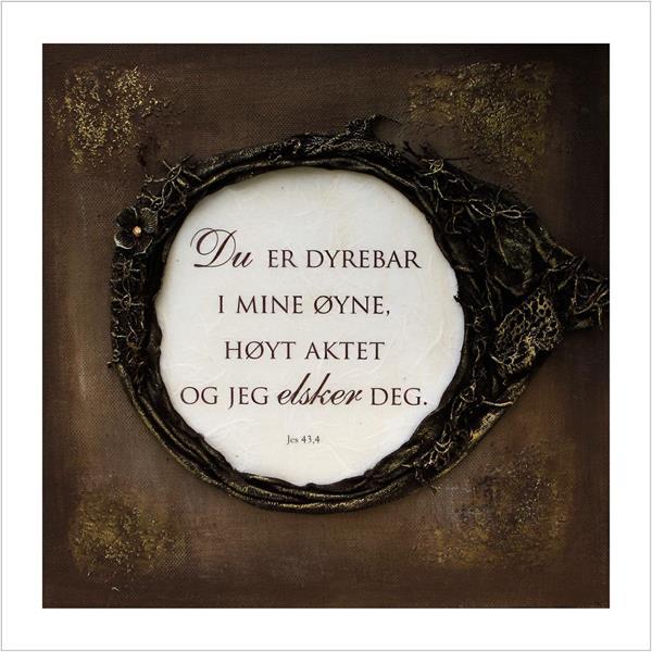 Kunstkort: Dyrebar & elsket