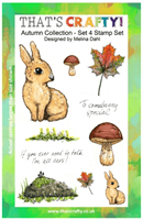 A5 clear stamp set Autumn Collection set 4