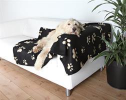 Fleecefilt Barney m tasstryck 150*100cm svart