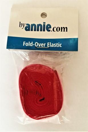 Fold-Over Elastic 2 yard, rosa