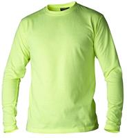 T-shirt lång ärm varselgul 138