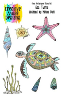A5 Clear stamp set Sea Turtle