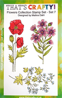 A5 Clear stamp set Flowers Collection set 7
