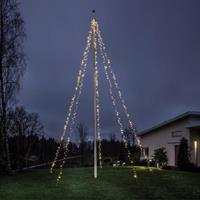 Flaggstångsslinga 5*100st led-lampor 8-10m