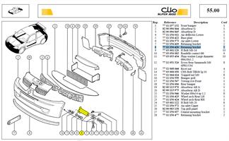 PATTE FX BOUCL COTE CHASSIS - Retaining bracket