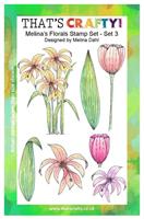 A5 clear stamp set Melina´s Florals set 3