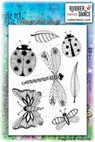 Rubber stamp set Things With Wings
