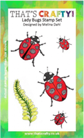 A6 Clear stamp set Lady Bugs