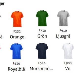 T-Shirt Fristads Heavy 1912 Ljusgrå