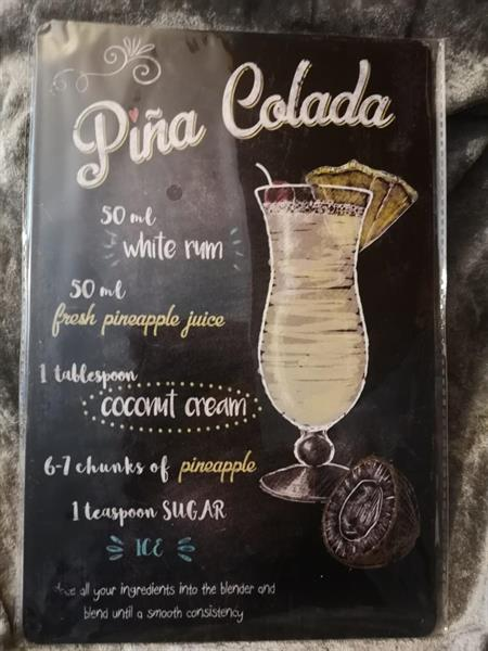 Pina Colada, peltitaulu
