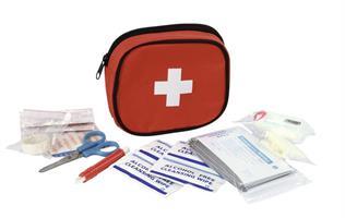 Första Hjälpen Väska För Enkel Sårvård