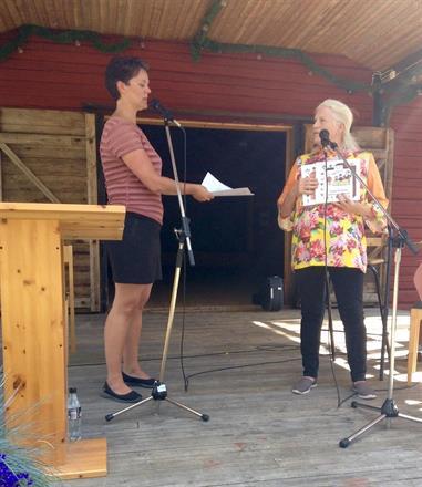 Lill i författarsamtal med Eva Ludvigsen, Litteraturfestival i Sveg