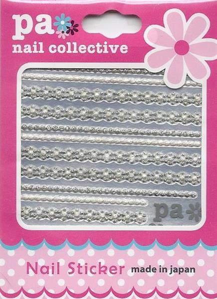 DL- Sticker ribbon silver