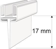Släplist Par för Svängt /Rundat glas C120 6mm