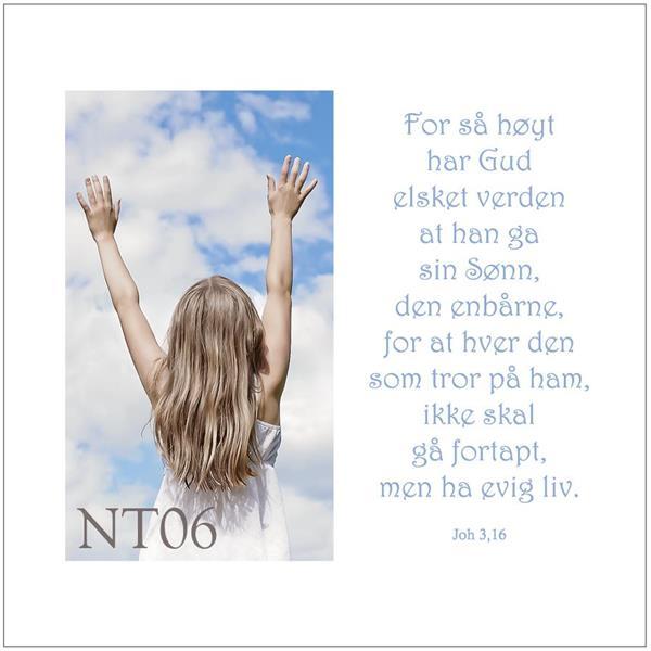 Postkort Joh 3,16