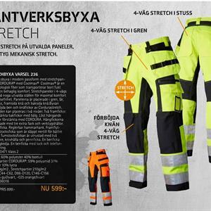 Hantverksbyxa stretch 236 klass 2