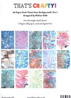 A4 paper pack Paint Pour backgrounds set 1