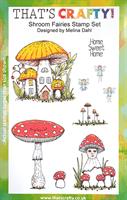 A5 Clear stamp set Shroom Fairies