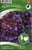 Sallat, Plock-, Red Salat bowl, röd