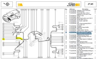 TUYAU M-C ARRI - Hose-Rear M/Cyl to bulkhead fitting on pedal mounting plate