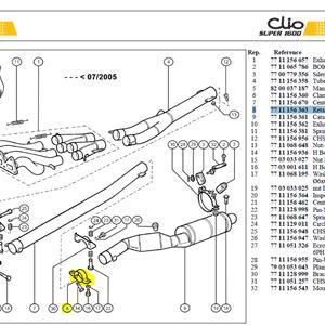 COLL.FIX CAT - Retaining clamp-Catalyser