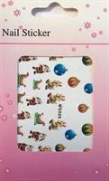 DM- Sticker Christmas sled & Santa Claus / Christmas