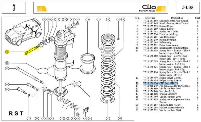 V.CHCM10 L:75 CL:12/9 RECOUPEE - CHS Bolt M10-75 machined