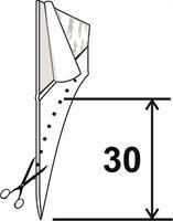 Självhäftande(3M) Silikonlist 30 mm