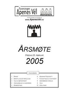 Program for Årsmøte 2005