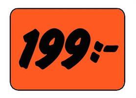 Etikett 199:- 30x20mm