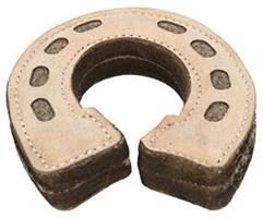Hundleksak Hästsko Läder/Ull 15cm