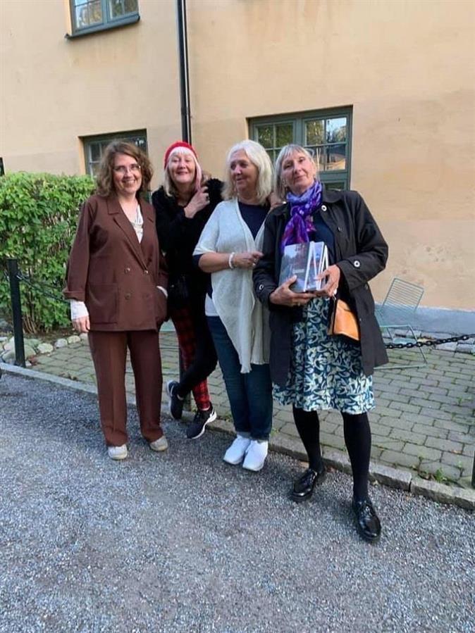 Sverigeförfattarna Helena Josephson, Carina Aynsley, Britta Ivarsson Possnert, Margareta Mörck