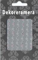 DM- Sticker Flower garland pink & white