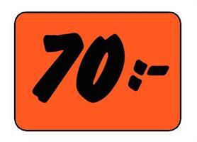 Etikett 70:- 30x20mm
