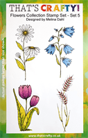 A5 Clear stamp set Flowers Collection set 5