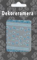 DM- Sticker 3D Heart blue