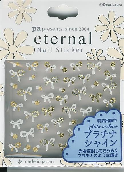 DL- Sticker Bow gold & white