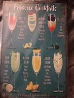 Prosecco cocktails, peltitaulu