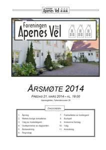 Program for Årsmøte 2014