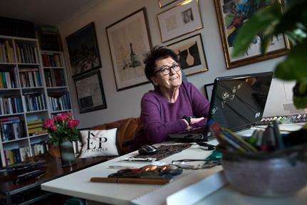 Birgitta Andersson med ett nytt manus