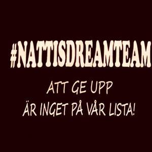 #nattisdreamteam - svart t-shirt 130/140 - REA