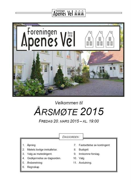 Program for Årsmøte 2015