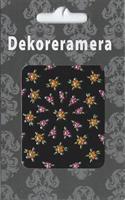 DM- Sticker Flower orange & pink