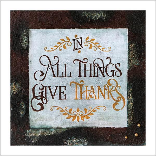 Kunstkort - Give thanks