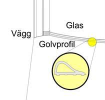 Golvprofil aluminium C120-90